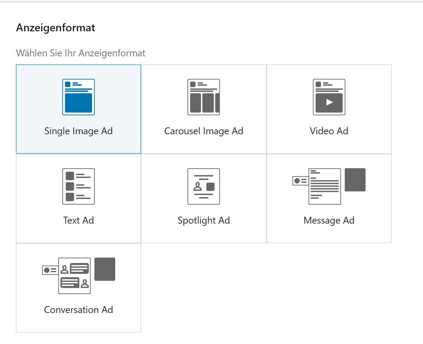LinkedIn Ads Anzeigenformate