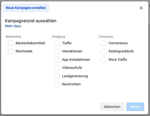 Screenshot_Kampagnenziel wählen