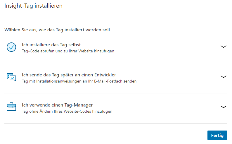 LinkedIn Ads Insight-Tag installieren