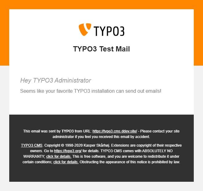 TYPO3 v10 E-Mail-Template